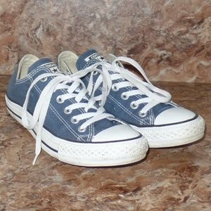 Converse All Star Navy Blue White Chuck Lace Up 8